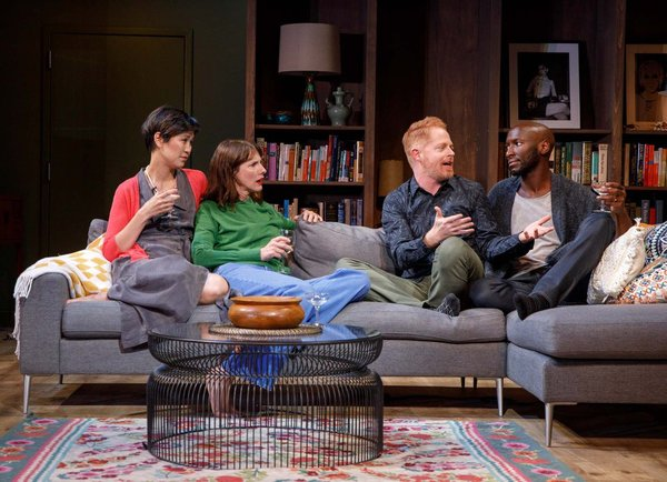 Cindy Cheung, Dolly Wells, Jesse Tyler Ferguson, and Phillip James Brannon. Photo by Joan Marcus
