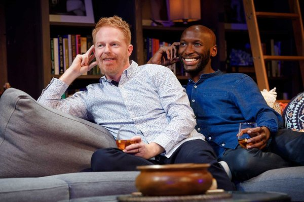 Jesse Tyler Ferguson and Phillip James Brannon. Photo by Joan Marcus