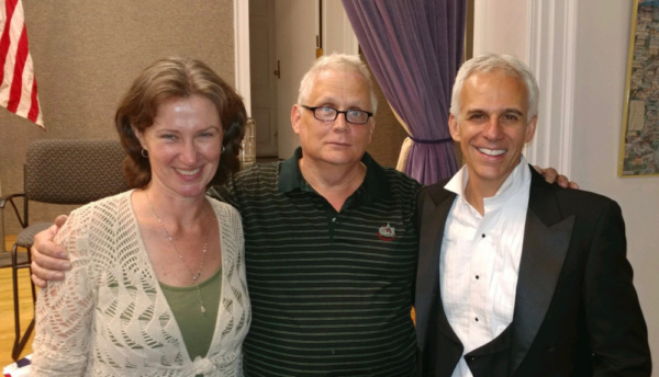 Director Anne Connolly, Playwright Kevin J. Alcock, and Actor Neal Mayer, the team be Photo