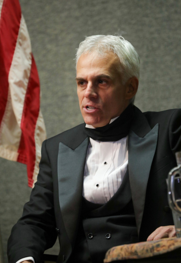 Neal Mayer as President James K. Polk in Who is James K. Polk? by Kevin J. Alcock. Ph Photo