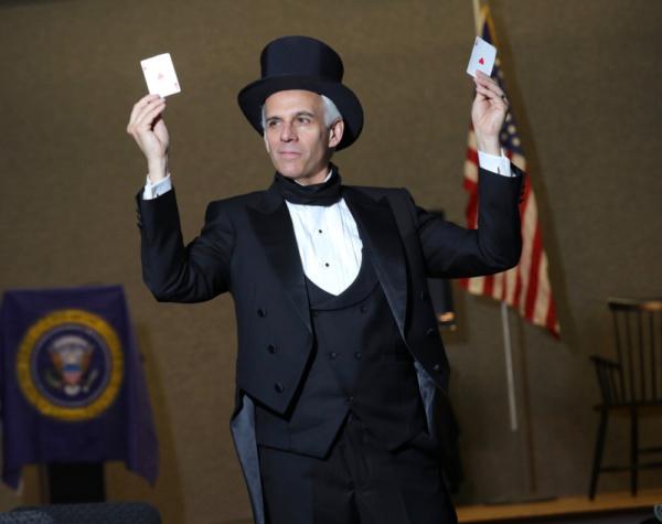 Neal Mayer as President James K. Polk in Who is James K. Polk? by Kevin J. Alcock. Photo by Alejandro Gomez