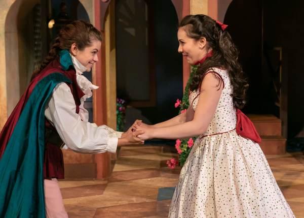 Izzie Steele as Beatrice Risponi and Miranda Rizzolo as Clarice Photo