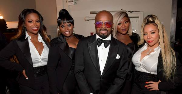 ASCAP Golden Note Award winners XSCAPE pose with So So Def Recordings head, Jermaine  Photo