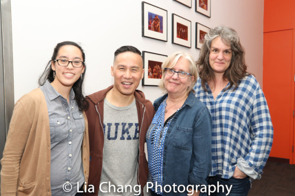 Lauren Yee, BD Wong, Lisa Peterson, Pam MacKinnon.  Photo