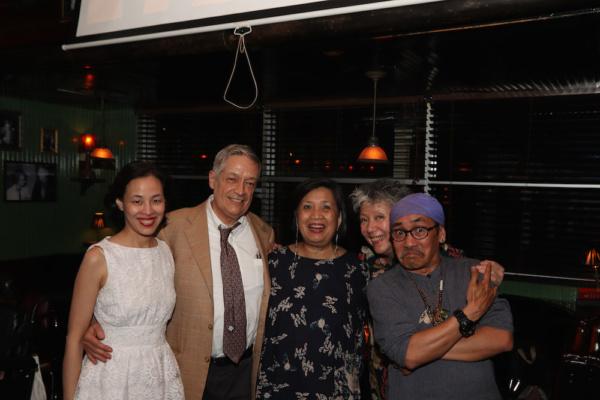 Lia Chang, Jorge Ortoll, Mia Katigbak, Jessica Hagedorn and Jojo Gonzalez. Photo by Marinda Anderson