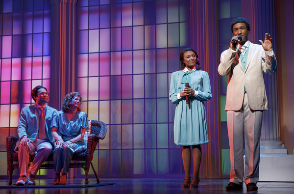 "Chaz Pofahl as Jim Bakker, Kirsten Wyatt as Tammy Faye Bakker, Loren Lott as CeCe Winans, and Donald Webber Jr. as BeBe Winans in BORN FOR THIS â€"" A NEW MUSICAL"