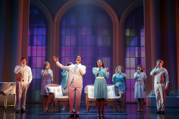 "Donald Webber Jr. as BeBe Winans and Loren Lott as CeCe Winans, with members of the Company, in BORN FOR THIS â€"" A NEW MUSICAL"