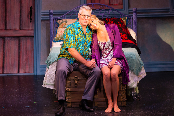Christopher Carl (Harry) and Erica Mansfield (Donna) in MAMMA MIA! now playing at Theatre By The Sea thru July 21, 2018. Photos by Steven Richard Photography.