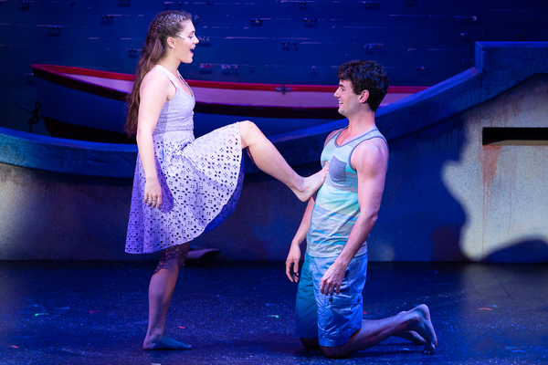 Malia Monk (Sophie) and Nick Walker Jones (Sky) in MAMMA MIA! now playing at Theatre  Photo