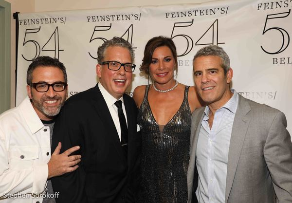 Ben Rimalower, director, Billy Stritch, music director, Luann de Lesseps, Andy Cohen