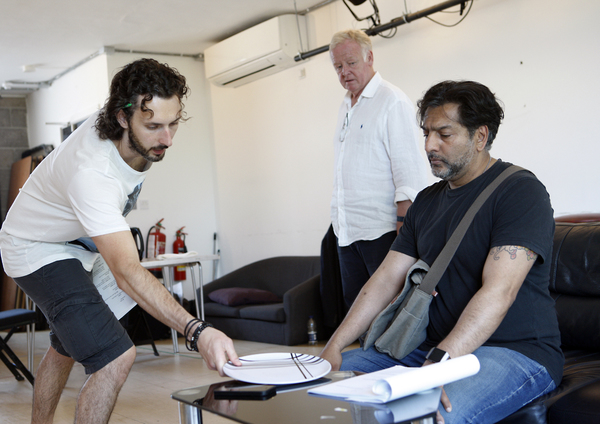 Blake Harrison, Les Dennis, and Nitin Ganatra Photo