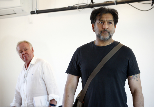 Nitin Ganatra and Les Dennis