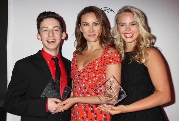 Andrew Barth Feldman, Laura Benanti and Renee Rapp