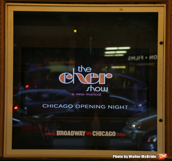 CHICAGO, IL - JUNE 28:  Theatre Marquee for the Opening Night Premiere of 'The Cher Show' at the Oriental Theatre on June 28, 2018 in Chicago.  (Photo by Walter McBride/Getty Images)