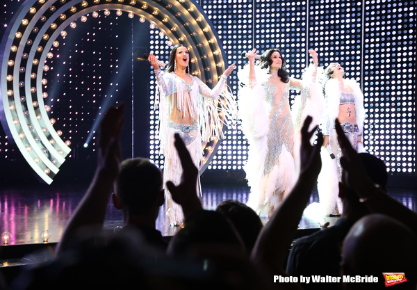 CHICAGO, IL - JUNE 28:  Teal Wicks, Stephanie J. Block and Micaela Diamond during the Pre-Broadway Premiere Opening Night Curtain Call for 'The Cher Show' at the Oriental Theatre on June 28, 2018 in Chicago.  (Photo by Walter McBride/Getty Images) *** Loc