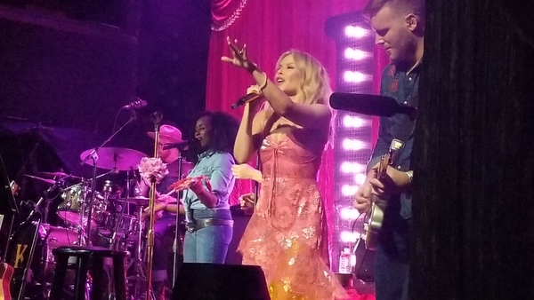 Kylie Minogue and band performing at Bowery Ballroom, Monday, June 25, 2018. Photo by @TheMickLewis