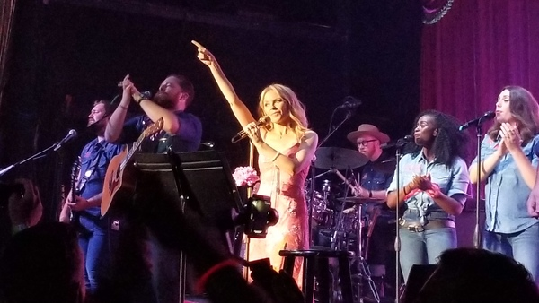 Kylie Minogue and band performing at Bowery Ballroom, Monday, June 25, 2018. Photo by Photo
