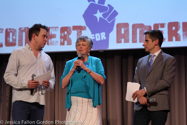 James Wesley and Seth Rudetsky with Terri Burke from TX ACLU