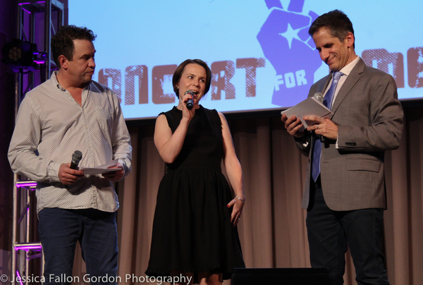 James Wesley and Seth Rudetsky with Michelle LaPointe from the Southern Poverty Law Center