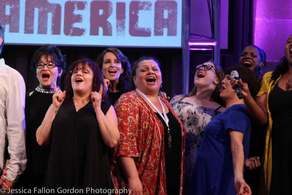 Chita Rivera, Lisa Mordente, Tina Fey, Keala Settle, Audra McDonald, and the Concert for America Singers