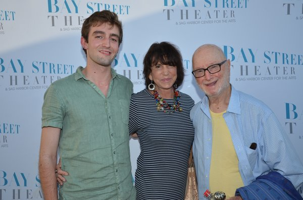 Mercedes Ruehl, son Jake, and Jules Feiffer. Photo by Barry Gordin