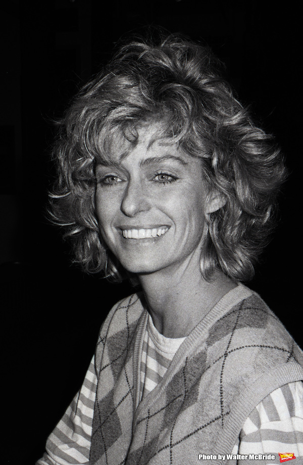 Farrah Fawcett during rehearsals for 'Extremeties' on June 17, 1983 at Westside Arts Theatre in New York City.