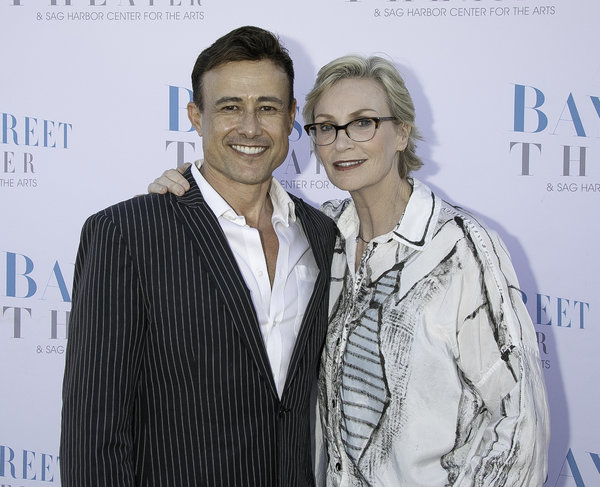 Steven Fales and Jane Lynch