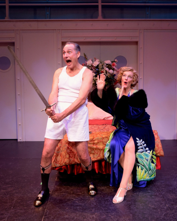 Kevin Pariseau (as Lord Evelyn) and Stacia Fernandez (as Reno Sweeney) Photo