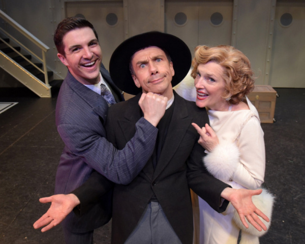 Zach Trimmer (as Billy Crocker), Jon J. Peterson (as Moonface Martin) and Stacia Fernandez (as Reno Sweeney)