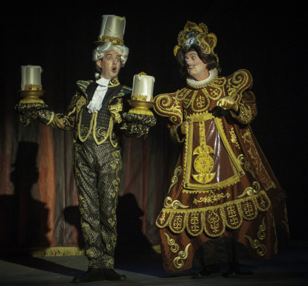 Gary Rucker (Lumiere) and Alan Payne (Cogsworth) Photo
