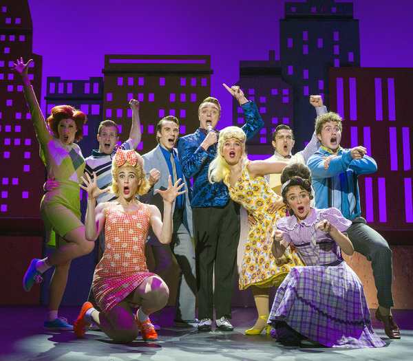 Katy Geraghty as Tracy Turnblad and Sam Leicht as Link Larkin Photo
