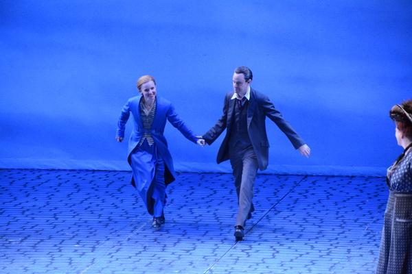 Lauren Ambrose and Harry Hadden-Paton