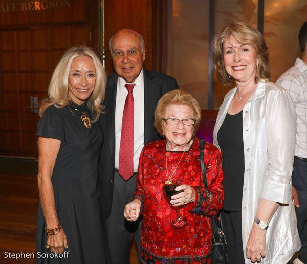 Eda Sorokoff, Joseph Gil, Dr. Ruth Westheimer, Regina Gil, Gold Coast Arts Center Photo
