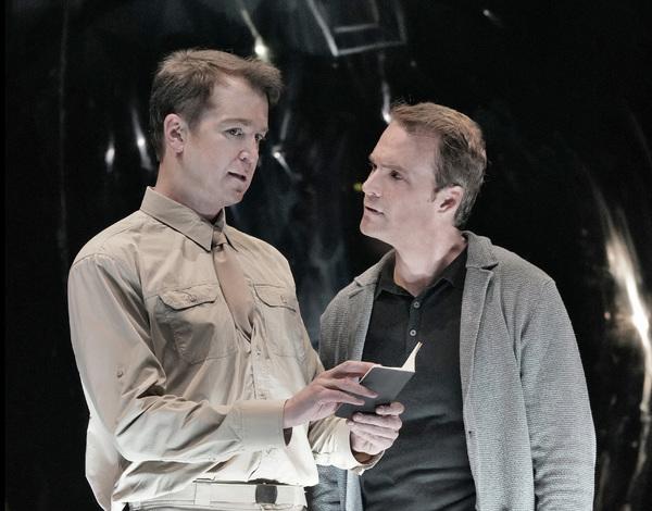 DANIEL OKULITCH (GENERAL GROVES) AND RYAN MCKINNY (ROBERT OPPENHEIMER)
