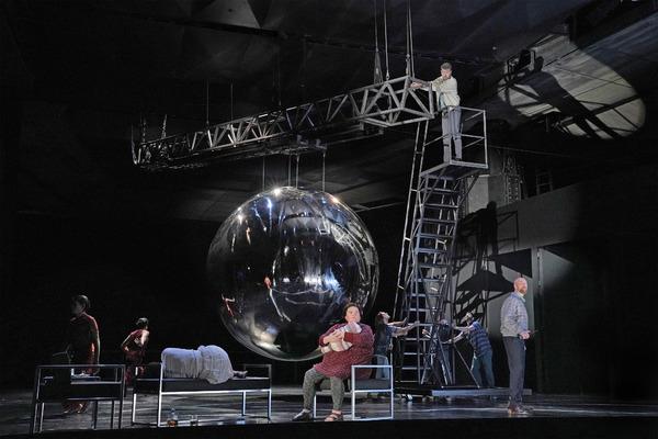 DANCERS, MEREDITH ARWADY (PASQUALITA), BEN BLISS (ROBERT WILSON), AND TIM MIX (FRANK HUBBARD)