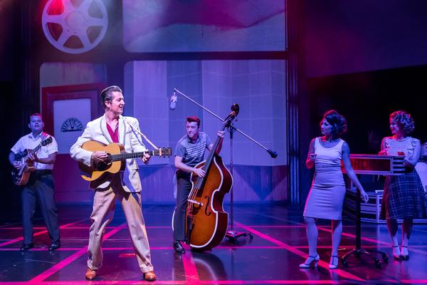 Matt Codina (Scotty Moore), Eddie Clendening (Elvis), Zach Lentino (Bill Black), Darc Photo