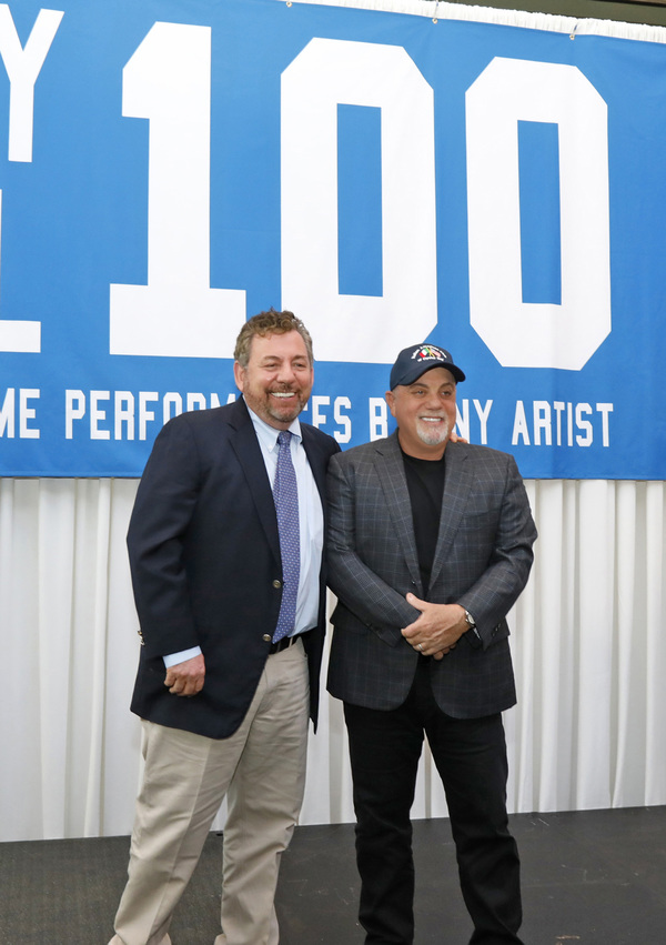 A press conference is held to honor Billy Joel's 100th show at Madison Square Garden in New York City.