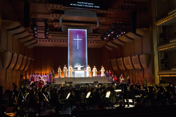 Photo:  Leonard Bernstein's MASS A Theater Piece for Singers, Players and Dancers (Ne Photo