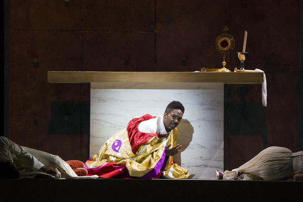 Nmon Ford, the Celebrant, in Lincoln Center's production of Leonard Bernstein's MASS at the 2018 Mostly Mozart Festival