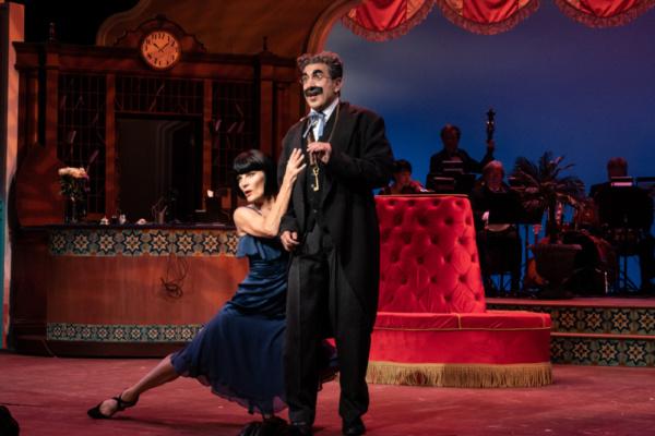 Dreya Weber as Penelope Martin and Frank Ferrante as Groucho Marx
