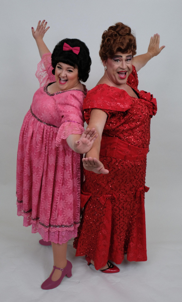 L-R: Bethany Slomka as Tracy Turnblad and John Massey as Edna Turnblad.