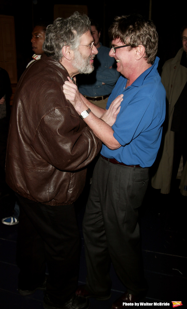 Harvey Fierstein and Gary Beach attending the Opening Night Gypsy Robe Ceremony for LA CAGE aux FOLLES at the Marquis Theatre in New York City. December 9, 2004