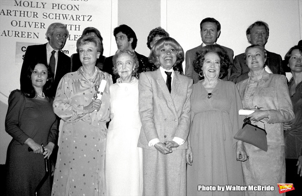 Adolph Green, Betty Comden, Al Pacino, Jerry Herman,Burgess Meredith, Susan Strassberg, Angela Lansbury, Lillian Gish, Carol Channing, Ethel Merman, Grace Kelly and Ellen Burstynat