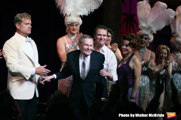 "Kelsey Grammer, Douglas Hodges, Jerry Herman, Christine Andreas during the Broadway Opening Night Performance Curtain Call for  ""La Cage Aux Folles""  at the Longacre Theatre in New York City. April 18, 2010"