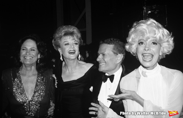 Coleen Dewhurst, Angela Lansbury, Jerry Herman and Carol Channing