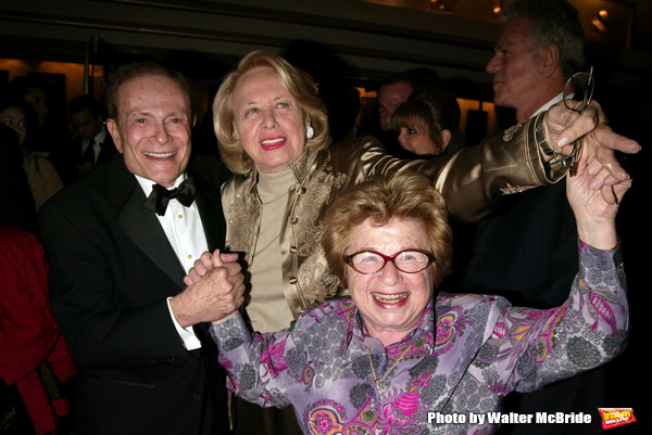 Ruth Westheimer and Liz Smith with Jerry Herman