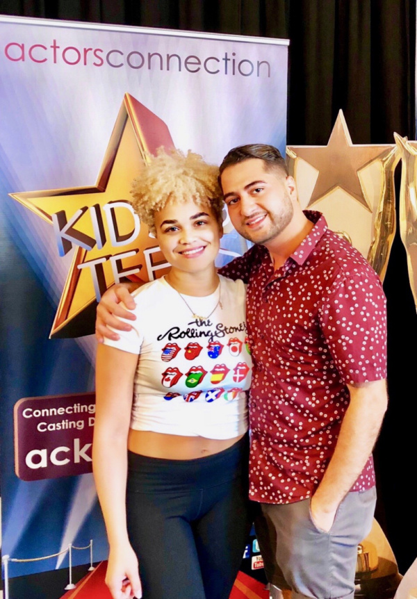 Broadway Star Kim Exum (Book of Mormon) visits Director Walid Chaya, and fellow VCU alumni, to wrap Actors Connection Performing Arts Camp.