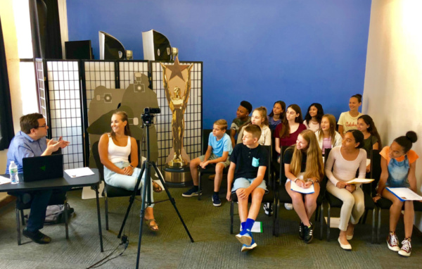 Casting Director Michael Cassara speaks to teens about the audition and casting process before monologue coaching.