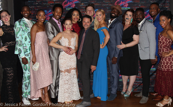 Alison Solomon, Joshua Bergasse and the cast of SMOKEY JOE'S CAFE