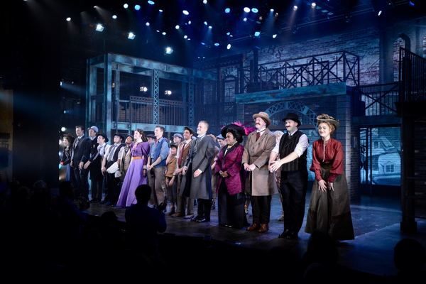 The Cast of Newsies that includes-Claire Avakian, Tommy Betz, Chris Cardelia, Maxwell Photo